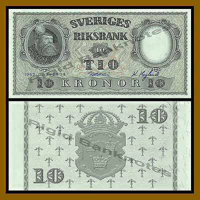 Sweden 10 Kronor, 1962 P-43b About Uncirculated (AU)