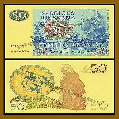 Sweden 50 Kronor, 1976 P-53b About Uncirculated (AU)
