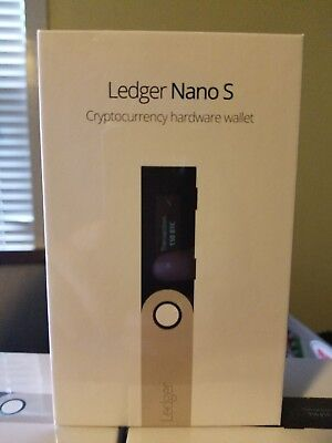 SEALED Ledger Nano S Bitcoin Hardware Wallet BTC/LTC/ETH/XRP/BCH/more (IN STOCK)