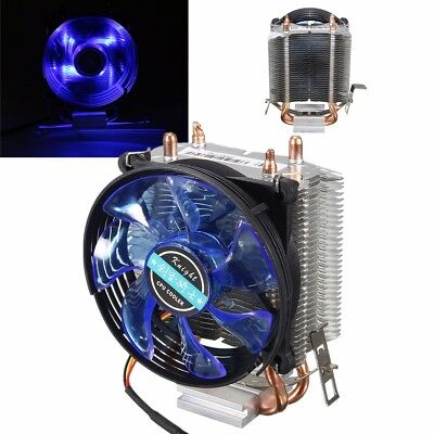 LED Copper CPU Cooler 3 Pin Fan Heatsink for Intel AMD AM2 AM3 LGA775/1156/1155