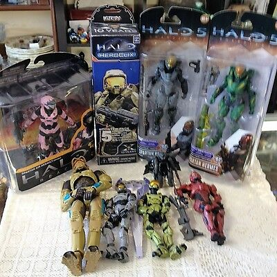 Halo Figures Assorted Group Lot Of 10