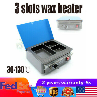 Dental Lab Waxer Carving Double Pen +6 Tips+3-Well Pot Analog Wax Heater machine