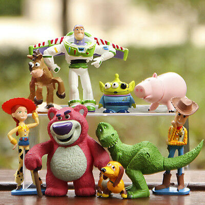 9pcs/Set Toy Story Buzz Lighter Woody Jessie Action Figure Dinosaur Lotso Dot