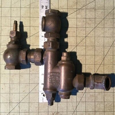 Vintage Antique American Brass Steam Engine Boiler Pump Injector Co US No 5 H&B