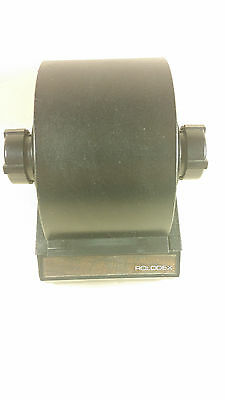 Rolodex black rotary file model 1753 with cards missing one tab
