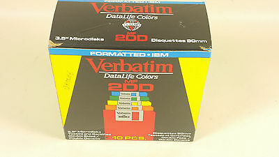 Verbatim datalife colors 3.5 inch disks double density 12 disks in box Orange
