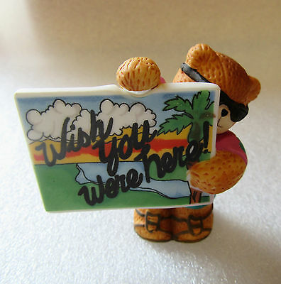 Lucy & Me ~ Wish You Were Here Vacation Hawaiin Shirt ~ Bear Porcelain Figurine