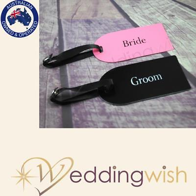 Bride and Groom Honeymoon luggage tags - 2pc