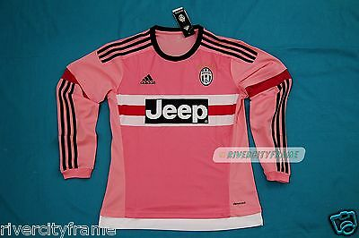 new styles 79702 b58ab ADIDAS JUVENTUS PINK jersey long sleeve BNWT Jeep maglia fan 2015 2016 rare  away