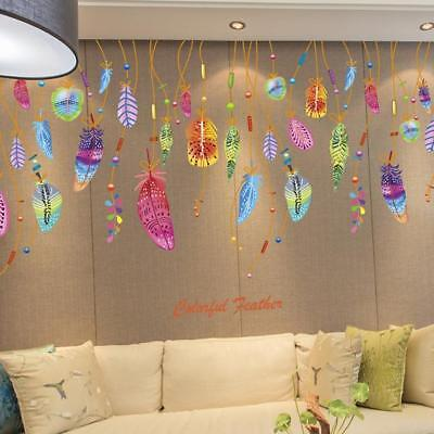 Classic creative dream catcher feather wall sticker art for Room decor 6d