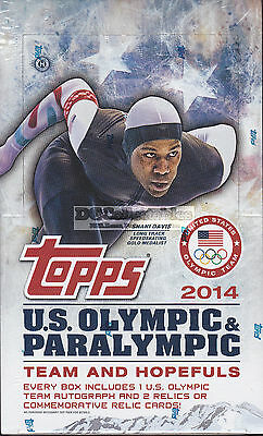 2014 Topps Us Olympic & Paralympic Team & Hopefuls Factory Sealed Hobby Box New!