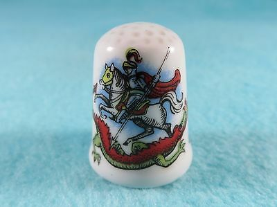 CAVERSWALL Thimble - Scotland Direct - St. George's Day - 1983