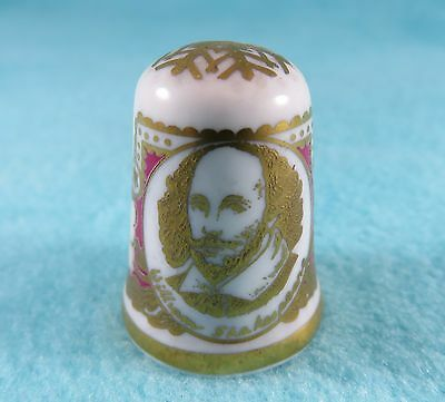 CAVERSWALL - William Shakespeare Thimble - Limited Edition - Hand Numbered