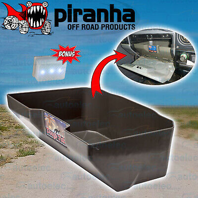 Piranha Dougs Tub Glovebox Glove Box Insert 70 75 76 78 79 Landcruiser + Led
