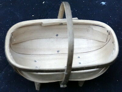 Small Mini Vintage Sussex Trug Made In Herstmonceux Trugery.