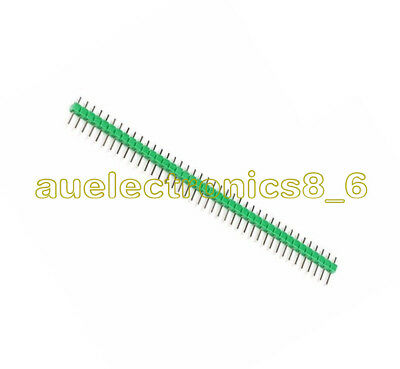 10PCS 2.54mm Green 40Pin 1x40P Male Breakable Pin Header Strip Connector AU