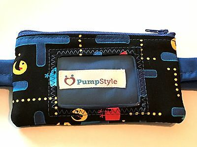 Pacman Insulin Pump Pouch with clear vinyl screen