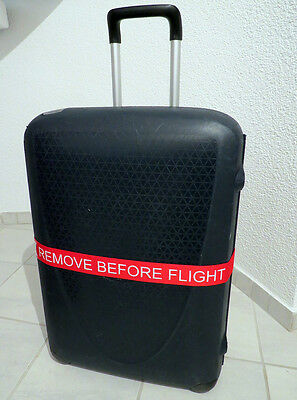 Luggage Belt REMOVE BEFORE FLIGHT red for suitcase with name tag