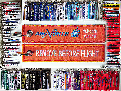 Keyring AIR NORTH Airlines Yukon's Airline Remove Before Flight tag keychain