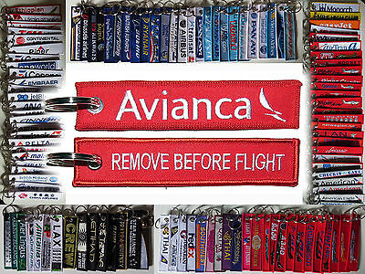 Keyring AVIANCA Colombia Airlines Remove Before Flight tag keychain