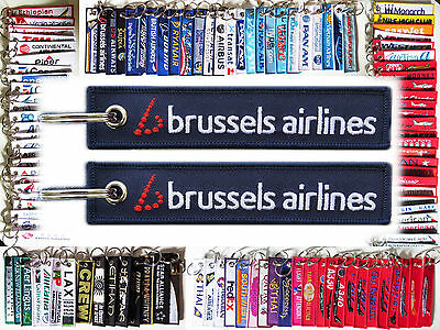 Keyring BRUSSELS AIRLINES Remove Before Flight tag keychain