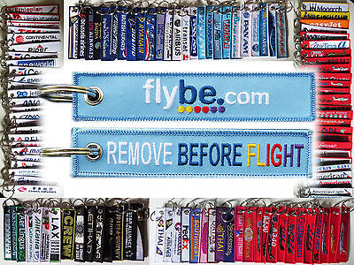 Keyring FLYBE AIRLINES Remove Before Flight tag keychain