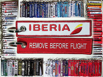 Keyring IBERIA AIRLINES Remove Before Flight tag keychain