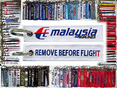 Keyring MALAYSIA AIRLINES Remove Before Flight tag keychain