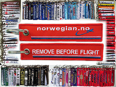 Keyring NORWEGIAN AIRLINES Remove Before Flight tag keychain
