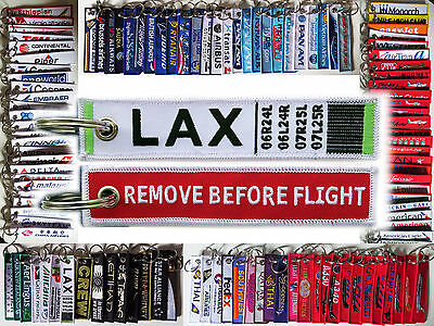 Keyring LAX Los Angeles International Airport Remove Before Flight tag keychain