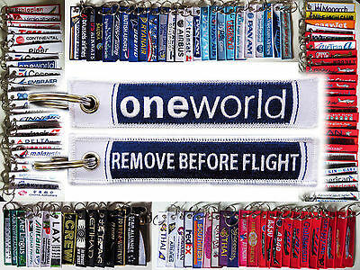 Keyring ONEWORLD Alliance Remove Before Flight tag keychain