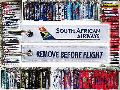Keyring SAA South African Airways Remove Before Flight tag keychain