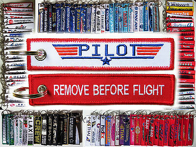Keyring TOP GUN PILOT Remove Before Flight tag keychain