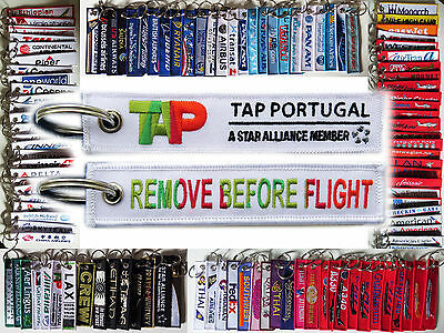 Keyring TAP Portugal Airlines Remove Before Flight tag keychain