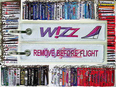 Keyring WIZZAIR Airlines Remove Before Flight tag keychain