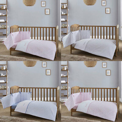 Clair de Lune Speckles 2 Piece Cot/Cot Bed Quilt & Bumper Bedding Set