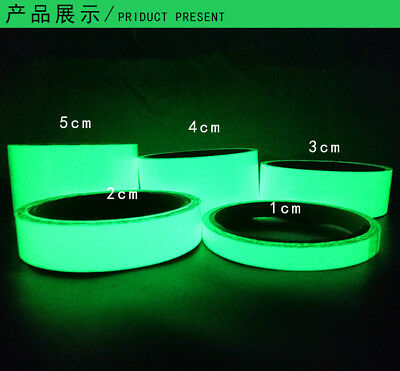 new photo luminescent glow in the dark tape roll stage safety useful