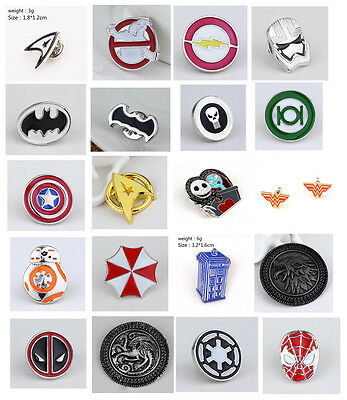 Spider-Man: Homecoming Metal Brooth Badge Pin Ghostbusters Punisher decoration