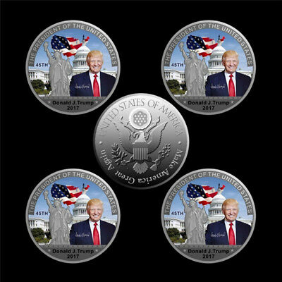 American 45th President Donald Trump Silver Coin US White House Coin Collection~