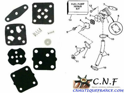 2.5 - 15 Cv Kit Membranes Pompe Essence Adaptable Johnson Evinrude  18-7823