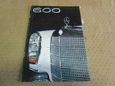 Catalogue Brochure Depliant Mercedes 600        Langue Espagnol