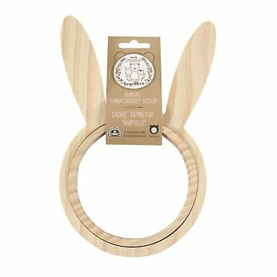 DMC Kircum Animal Embroidery Hoop - Bunny Cross Stitch Frame
