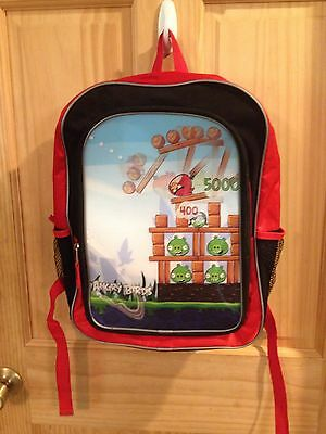 Kids Red Black Angry Birds Backpack