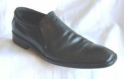 "ASTON GREY ""Diego"" Men's Black Leather Slip-on Dress Shoes #8484-Size 10 1/2"