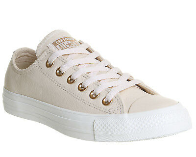 f4d6fd8061fe Womens Converse All Star Low Leather EGRET PASTEL ROSE TAN BLUSH GOLD  EXCLUSIVE