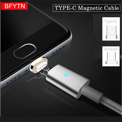 Magnetic Type-C Micro USB Fast Charging Charger Cable for Samsung S8 Plus/Note 8