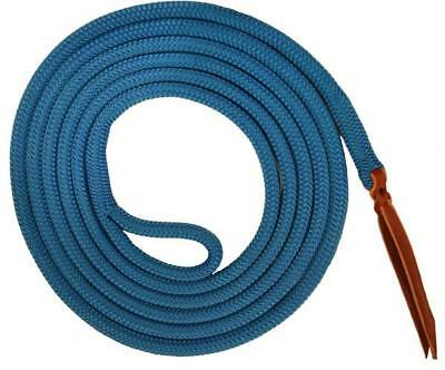 "9/16"" double braid polyester yacht lead rope eye spliced loop Blue new 9' KG"