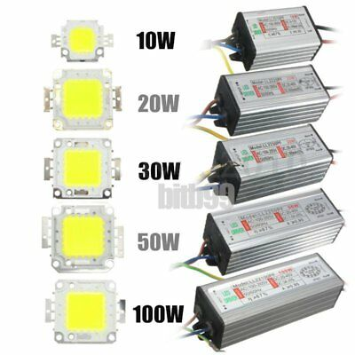 LED SMD Chip Bulb 10W/20W/30W/50W/100W LED Driver Supply High Power WaterproofBE