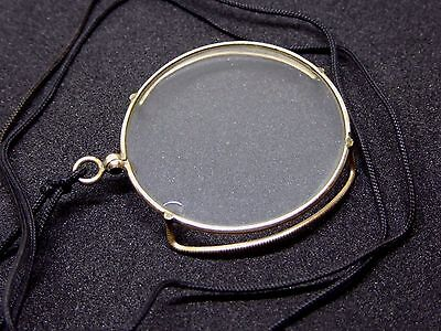 Antique Edwardian Gold Plated Monocle Magnifying Reading Glass