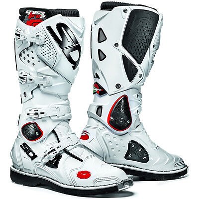 Sidi Crossfire 2 Motocross Mx Enduro Bike Boots White / White